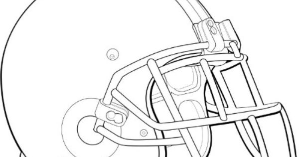 Super Bowl Football Helmet Coloring Page from Kiboomu