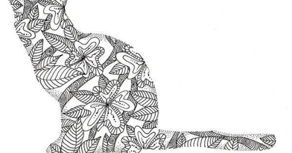 Pin van Mariska den Boer op Zentangle Cats & Dogs