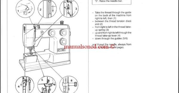 Bernina Bernette 715, 730, 740E Sewing Machine Instruction