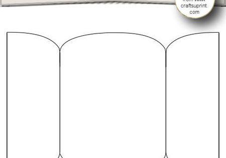 3 Panel Gate Fold Card Template 5 CU4CU on Craftsuprint