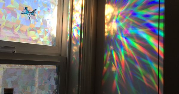 hanging kitchen light and dining sets amazon.com - decorative window film holographic prismatic ...