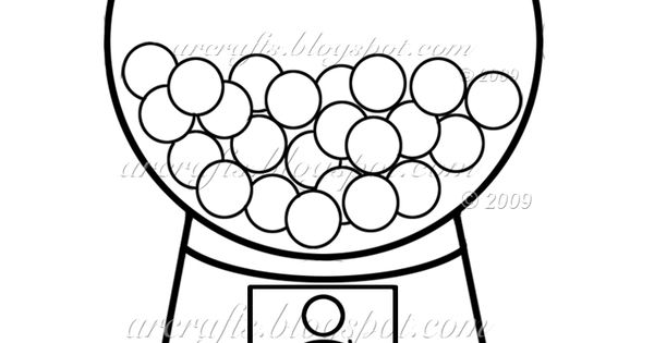Gumball Machine Coloring Page Picture I'm going to use
