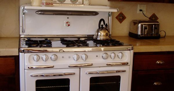 kitchen stoves gas remodeling small 1950s wedgewood 6 burner double oven | restored vintage ...