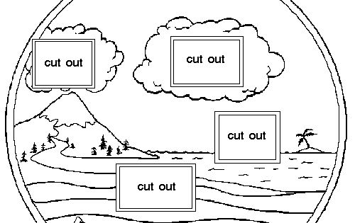 Download this template to make your own water cycle wheel