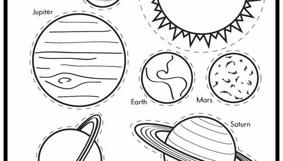 planets cute to use with Planets Roll Call Poem- make a