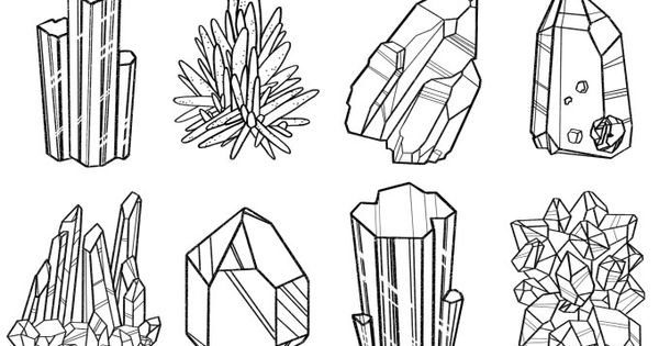 Rocks Gems And Minerals Coloring Pages Sketch Coloring Page