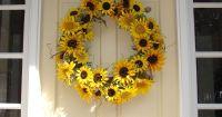 Sunflower wreath for front door | Home Decor | Pinterest ...