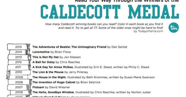 Caldecott Medal Reading List Printable