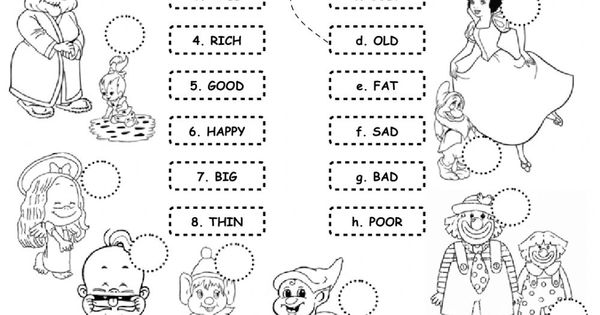 Opposite adjectives interactive and downloadable worksheet