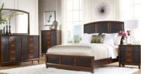 Sofia Vergara Collection Cherry/Brown Bedroom Set Sofia