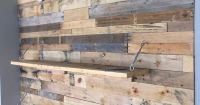 Wood Pallet Accent Wall | Pallet Furniture DIY | pallet ...