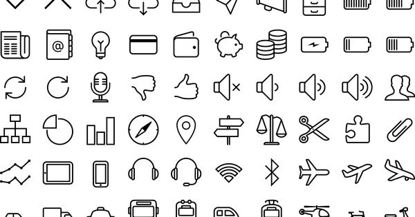 Free iOS 7 icons in vector by VisualPharm (source: http