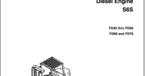 Mitsubishi Diesel engine S6S service manual FD35 thru FD50