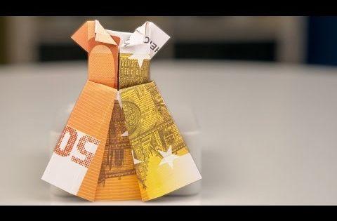 Jurk vouwen van geld  Papiergeld vouwen  Geld vouwen  Knutselen  Origami  YouTube