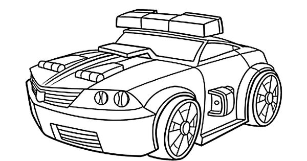 Chase police bot coloring pages for kids, printable free