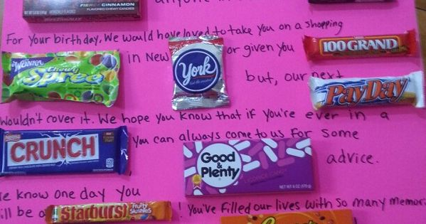 Sweet 16 Candy Poster Gifts Pinterest Verjaardag