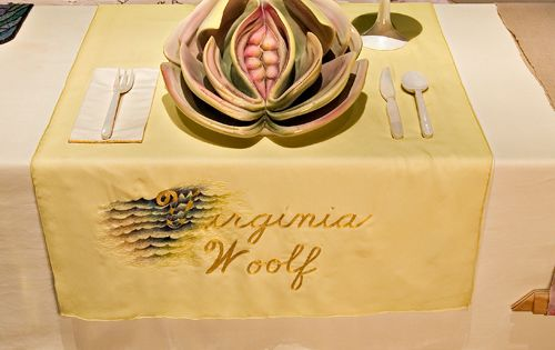 Judy Chicago American b 1939 The Dinner Party Virginia Woolf place setting 197479