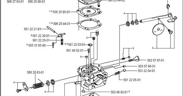 Partner K950 Active Carburetor Parts Diagram & Breakdown