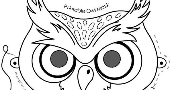 Owl mask, Halloween coloring pages and Coloring pages on