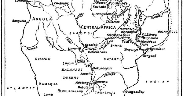 [Map] from The Story of David Livingstone (and you could