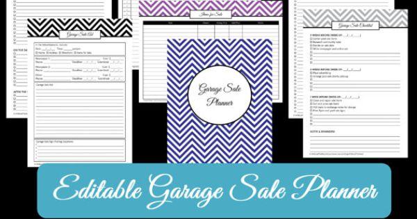editable garage sale signs