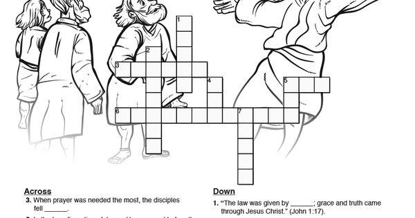 Matthew 17 The Transfiguration Sunday School Crossword