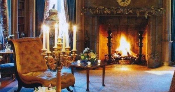 French fireside and candlelight  Living Rooms