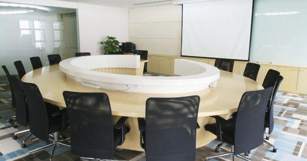 office meeting room blue black white gray ceiling
