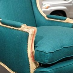 Antony Todd Sofa Small Sectional Edmonton Todd's French Teal Wingback Chair   Furniture ...