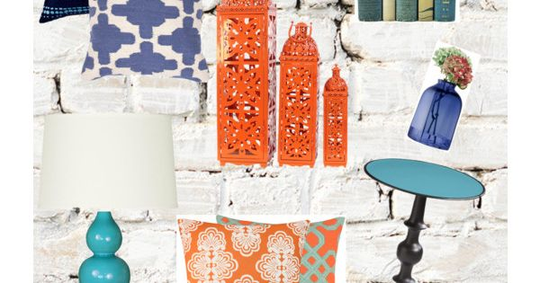 Blue Turquoise And Orange Home Accessories Home Decor Pinterest Dorm Bedrooms And Room