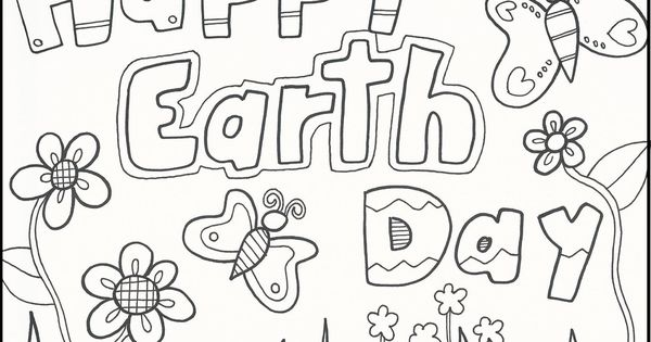 Happy Earth Day Greeting Cards coloring picture for kids