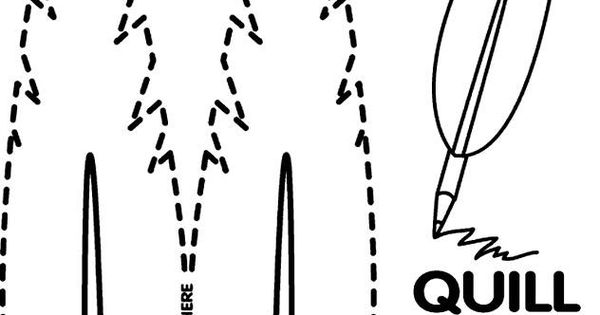 quill pencil coloring page... good for Presidents Day, 4th