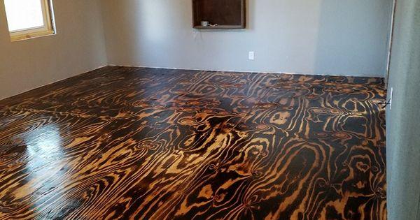Plywood Sheet Flooring Bob Schoenfelder Burned Plywood Floor Featured On Remodelaholic