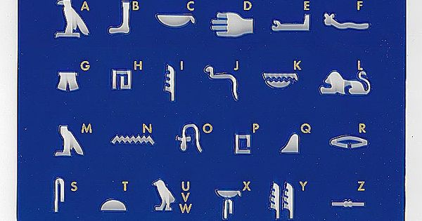 Hieroglyphen Schablone der gypter fr Schulen hier kaufen  Kindergeburtstag_Agypten