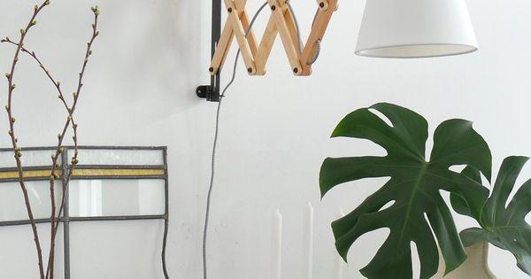 Scandinavische leeslamp wandlamp hout  Wandlampen