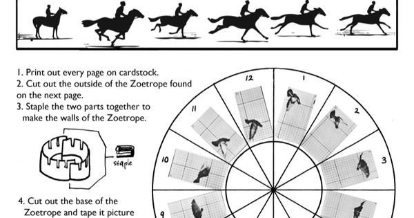 Phenakistoscope Template Printable Sketch Coloring Page