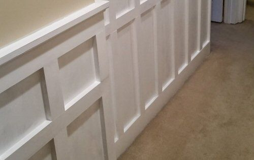 how to install chair rail fuzzy desk board and batten wainscoting (white painted square over rectangle pattern ...
