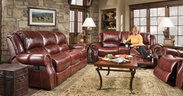 Corinthian Softie Oxblood Reclining Sofa Collection  Motion Living Room Sets  Pinterest