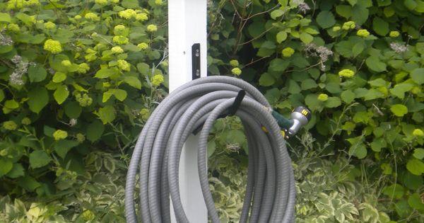 DIY garden hose hanger  Country primitive outdoor ideas