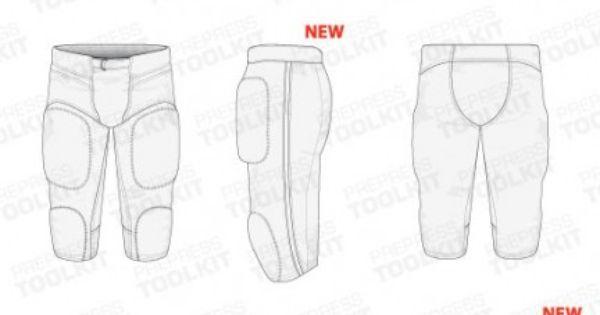 football uniforms Vector mockup template, custome football