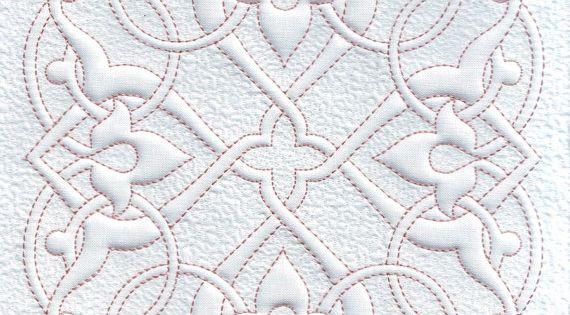 Fleur de Lis Quilt Block Quilting Trapunto by