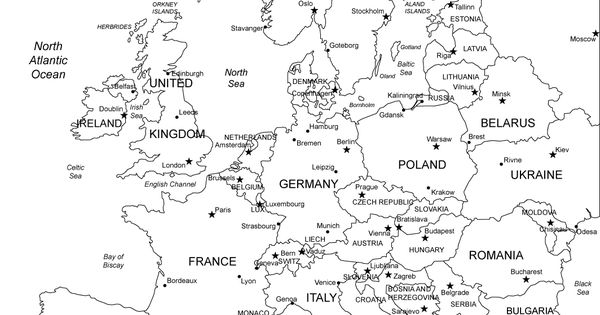 Europe Printable Blank Map Royalty Free, jpg (as well as