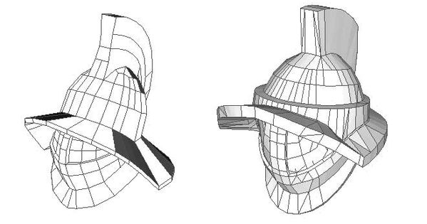 2 Gladiator Helmet Papercrafts Free Template Download