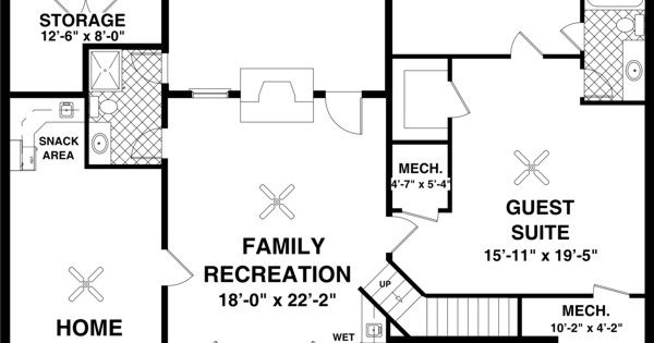 High Quality Home Plans With Basements #5 Ranch House