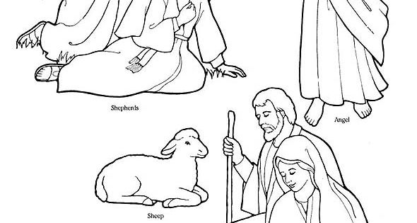 Printable Nativity Coloring Page to cut out and make your