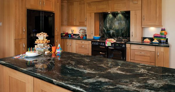 Glossy Black Storm  Axiom Formica Laminated Worktop