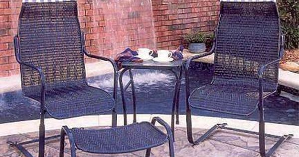outdoor wicker swing chair office for short person lloyd flanders bay breeze, loom perma hi-back spring base chair-discontinued my mom ...