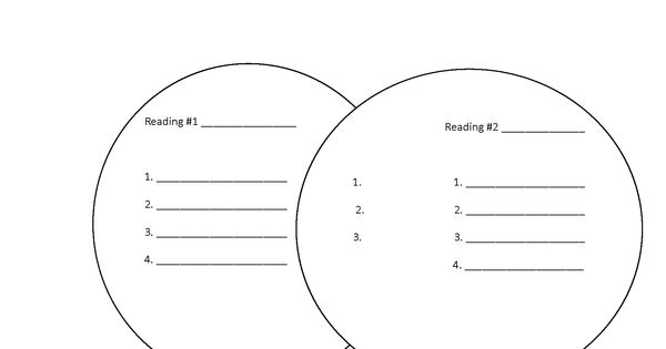 Compare and Contrast Readings Text Structure Worksheet
