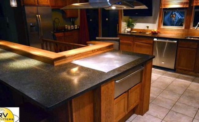 Kitchen Built In Hibachi Grill In Island For The Home