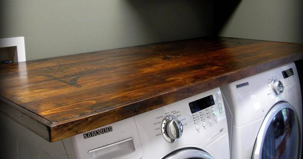 how to make your own laundry wood countertop  Kitchen  Counters  Pinterest  Countertop